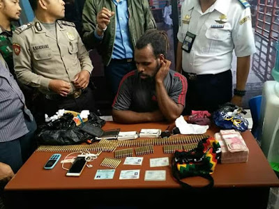 Kedapatan Membawa Amunisi, Anggota KNPB diamankan Petugas Bandara Timika