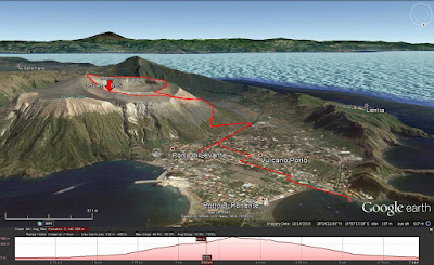 Route from Vulcano port to Gran Cratere.