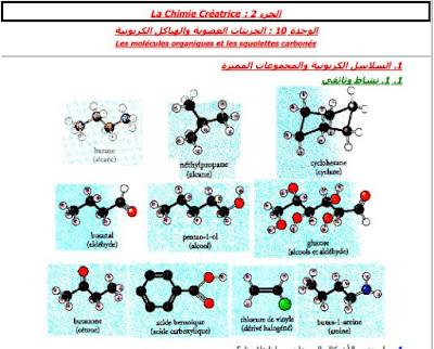 الاولى باكالوريا: درس الجزيئات العضوية والهياكل الكربونية