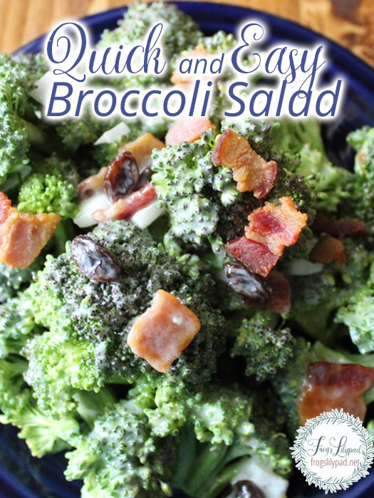 Quick and Easy Broccoli Salad #Recipe #Salad