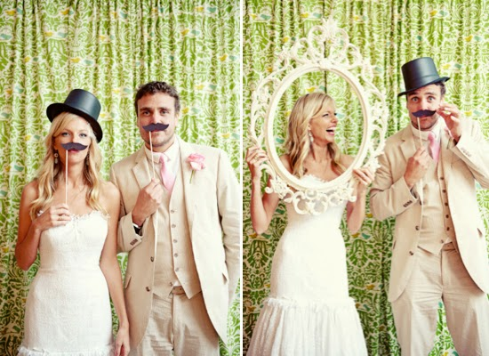 ideias criativas casamento - Photobooth (acessórios para fotos divertidas)
