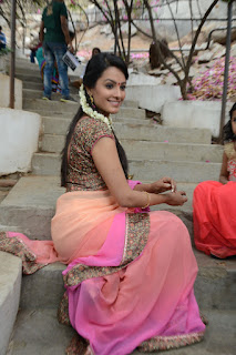 Actress Anitha Picture Gallery in Saree at Mo Okadu Movie Launch  0037.jpg