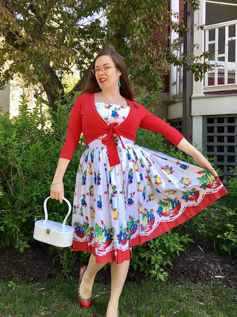 retrospec'd fruit basket dress a classic paradise