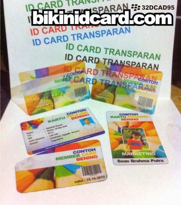 cetak id card transparan