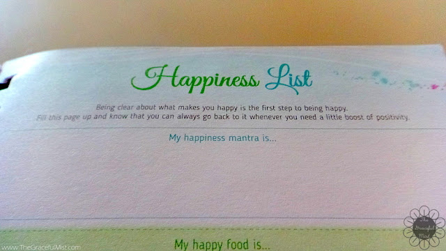 2016 Belle De Jour Power Planner: Happiness List Page Picture (Review at http://www.TheGracefulMist.com/)