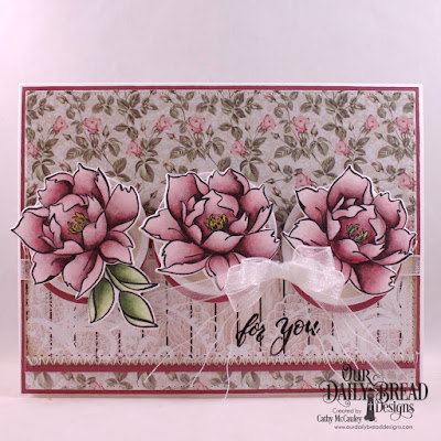 Our Daily Bread Designs Stamp/Die Duos: Hello Friend, Paper Collection: Romantic Roses, Custom Dies: Pierced Rectangles, Circles