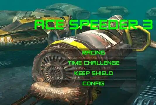 لعبة السباق التي تعمل من خلال عالم المستقبل في آلات مكافحة الجاذبية.AceSpeeder3