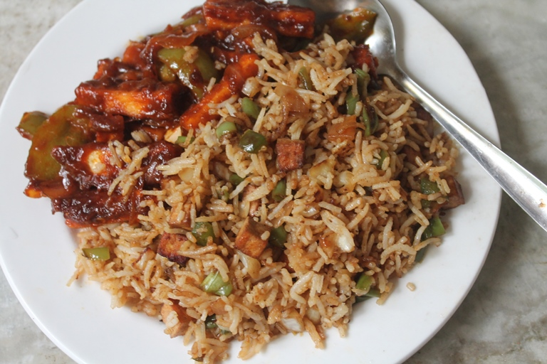 Tofu fried rice recipe yummy tummy this is one quick fried rice you can make with tofu i marinated the tofu before and sauted it till golden then i tossed it with the rice this way the ccuart Gallery