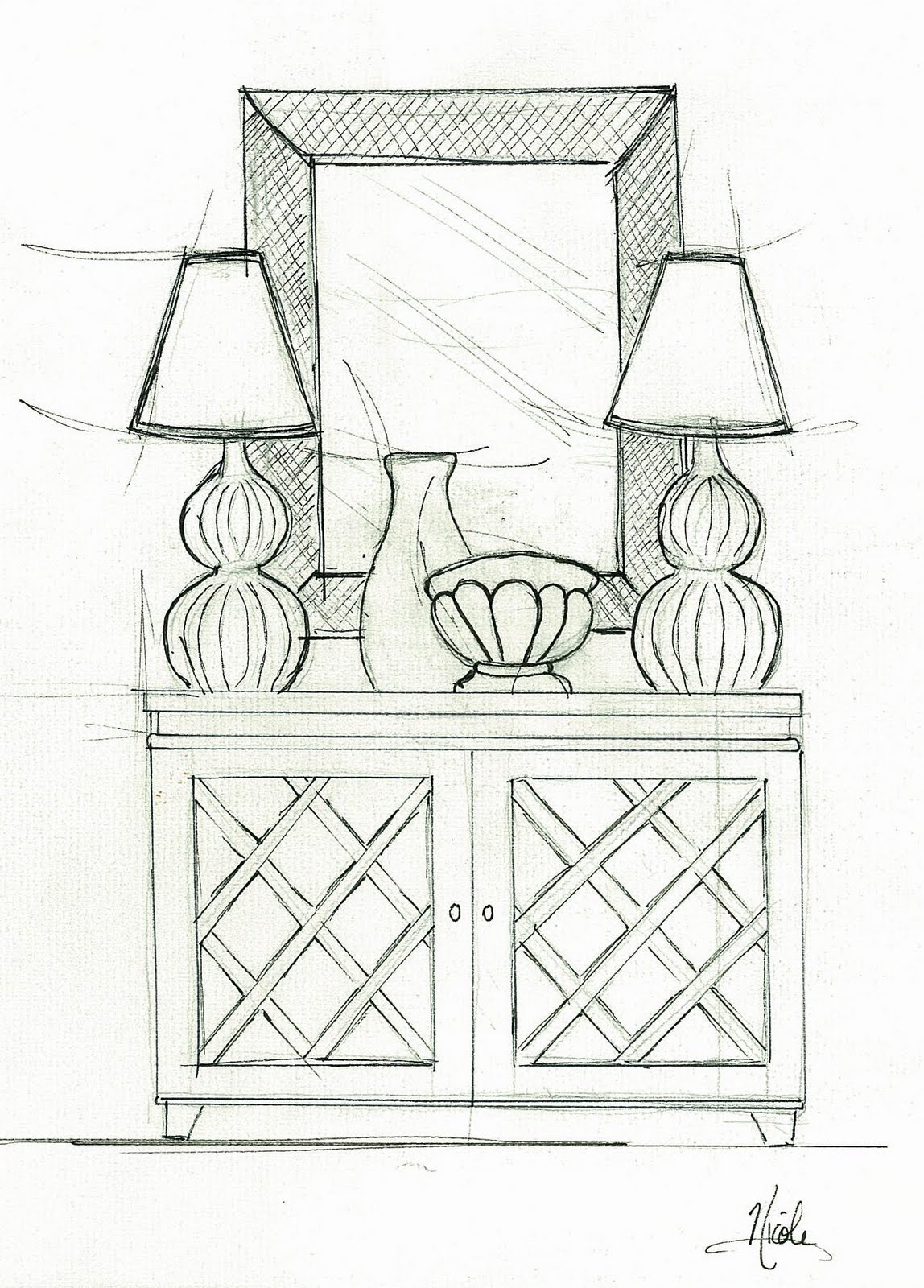 Interior Design Furniture: Nilessa Interiors: Interior Sketches