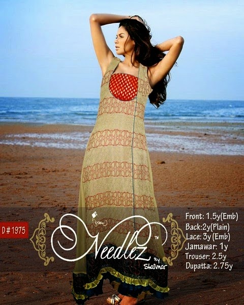 Latest Unstitched Formal wear Summer Dresses by Needlez Shalimar