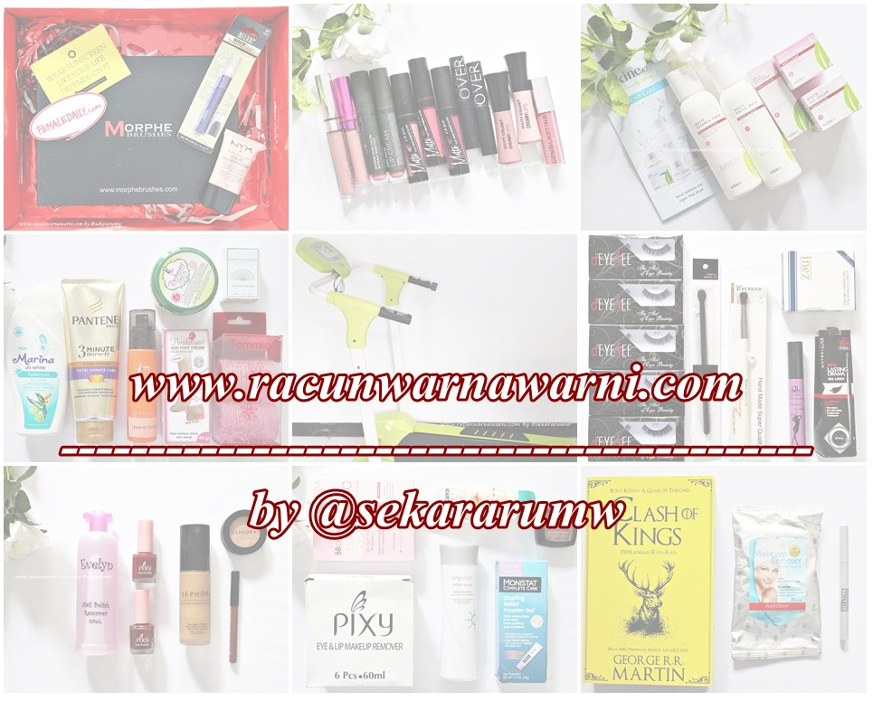 Haul Make Up dan Skin Care Racun Warna Warni