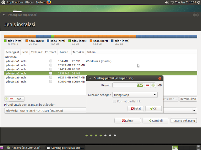 cara mudah instal dualboot linux ubuntu-windows