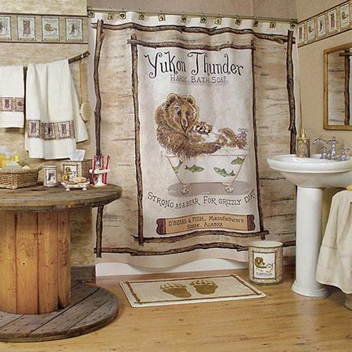 Country bathroom decor casual cottage for Casual bathroom ideas