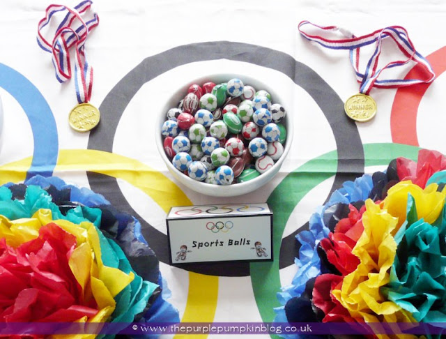 Sports Ball Chocolates for an #Olympics Party at The Purple Pumpkin Blog