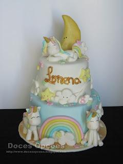 Bolo para o aniversário da Lorena
