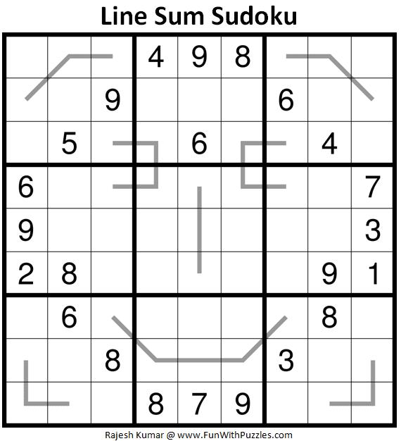 Line Sum Sudoku (Daily Sudoku League #225)