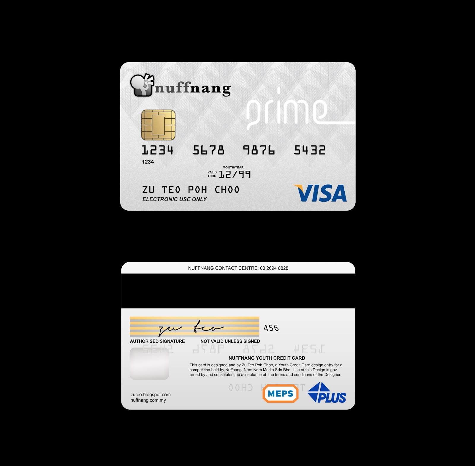 Im awesome like that  Nuffnangs Youth Credit Card Design Prime