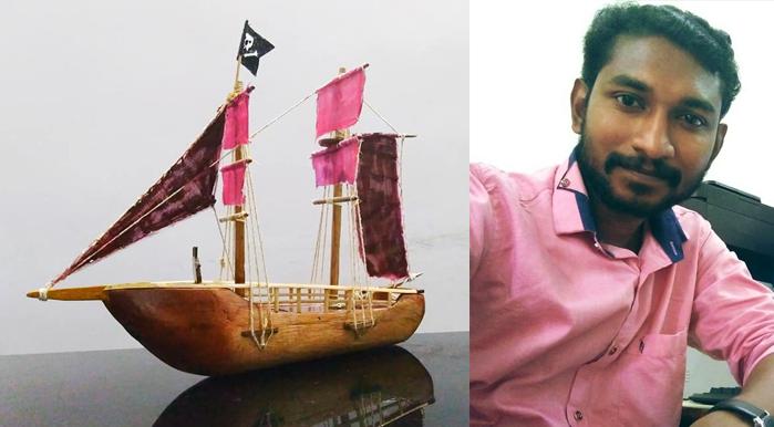 beautiful miniature sail, home decore