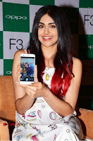 Bollywood Actress Adah Sharma Pos in White Printed Short Dress at OPPO F3 Plus Selfie Expert Mobile Launch .COM 0057.jpg