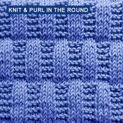 Stocking and Garter Stitch Rectangles - knitting in the round