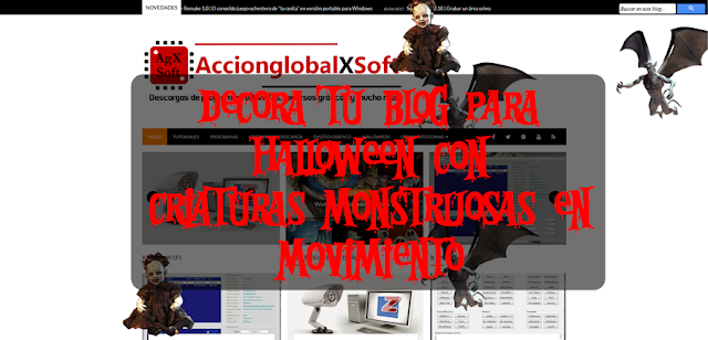 Decora tu blog para Halloween con criaturas monstruosas en movimiento