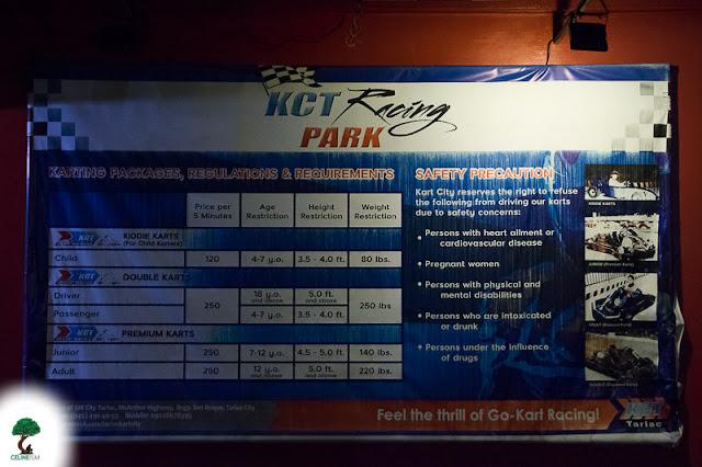 kart city tarlac rates