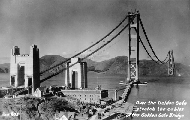Historical Photos Golden Gate Bridge construction 1930\u0027s