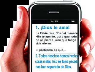 Evangelizando con el celular enviando mensajes de texto