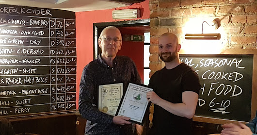 Norwich's White Lion is Norfolk Cider Pub of the Year 2017