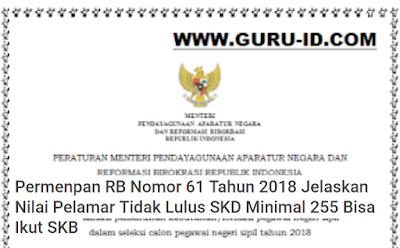 gambar penjelasan permenpan rb nomor 61 tahun 2018