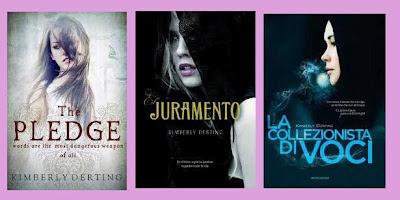 portadas de la novela juvenil de fantasía disttópica Juramento, de Kimberly Derting