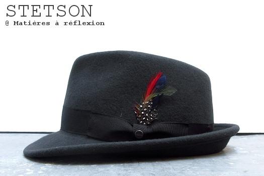 Chapeau gris anthracite Stetson