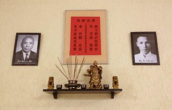 Altar de academia de Kung Fu