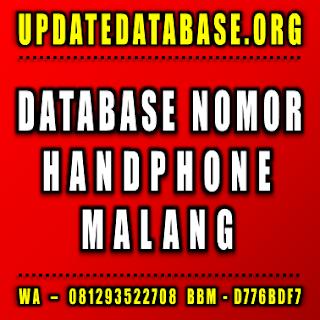 Jual Database Nomor Handphone Malang