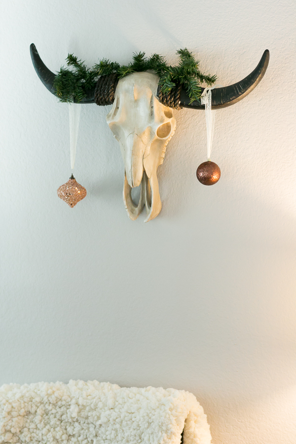 holiday decor for wall cow skull taxidermy parlor girl