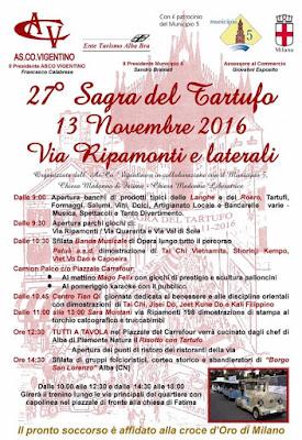Sagra del Tartufo 13 novembre Milano