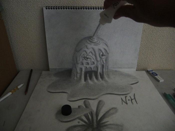 3D иллюзии. Nagai Hideyuki 13