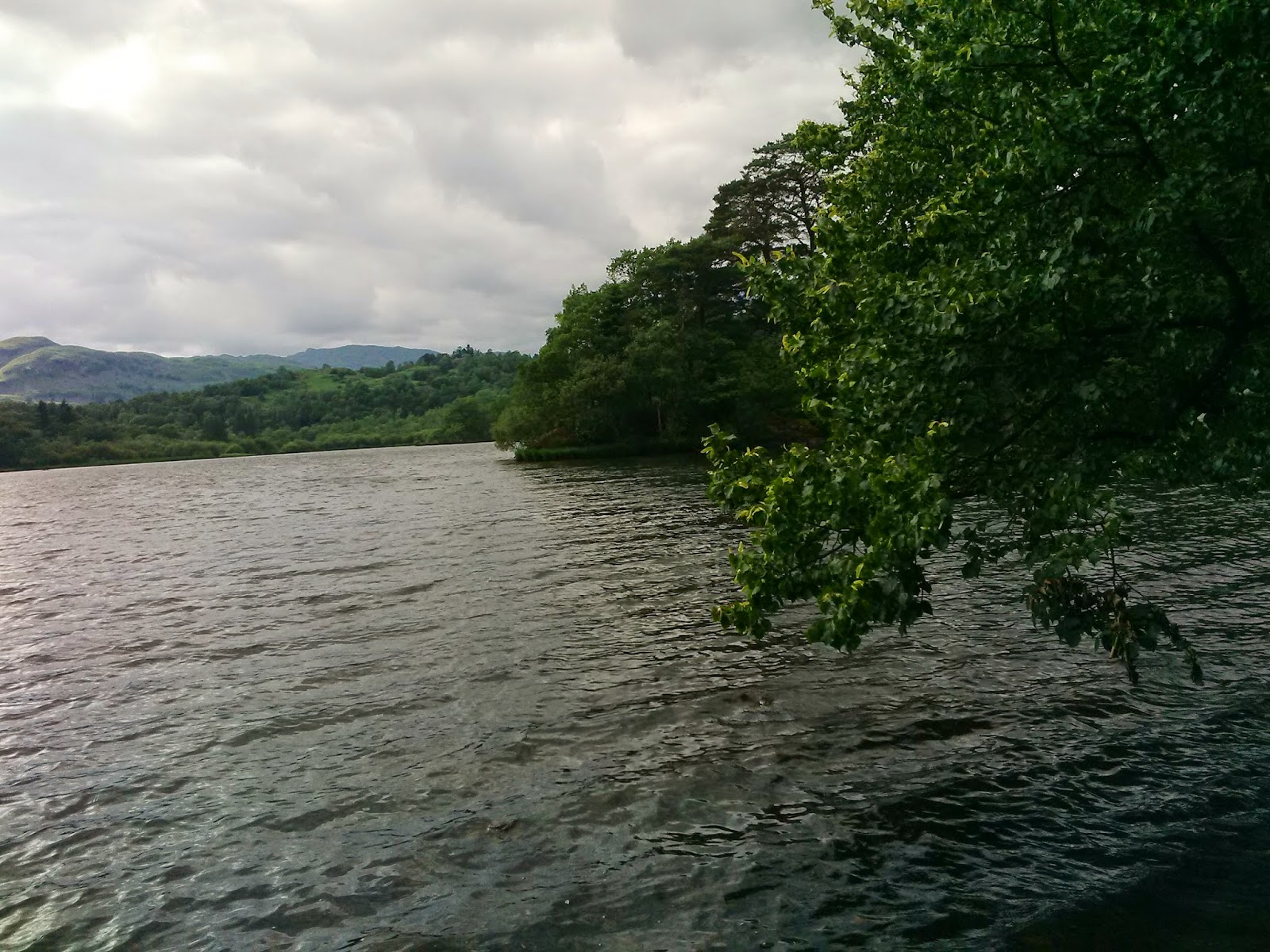 View from island on Rydal Water, Lake District