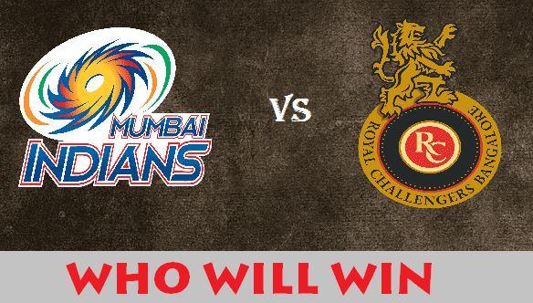IPL 2018 MI vs RCB Prediction Preview, Who Will Win