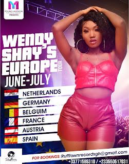 Wendy Shay Set To Go On European Tour