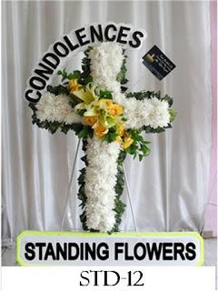 Karangan Bunga Salib Di Cibodas Sari