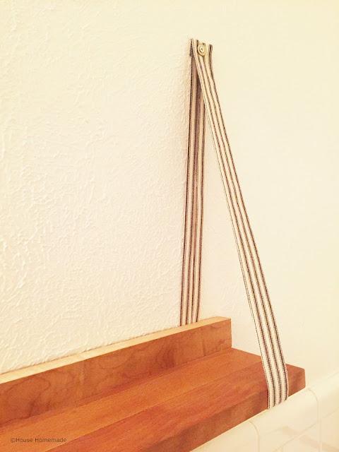 Fabric hanging shelf  tutorial   House Homemade