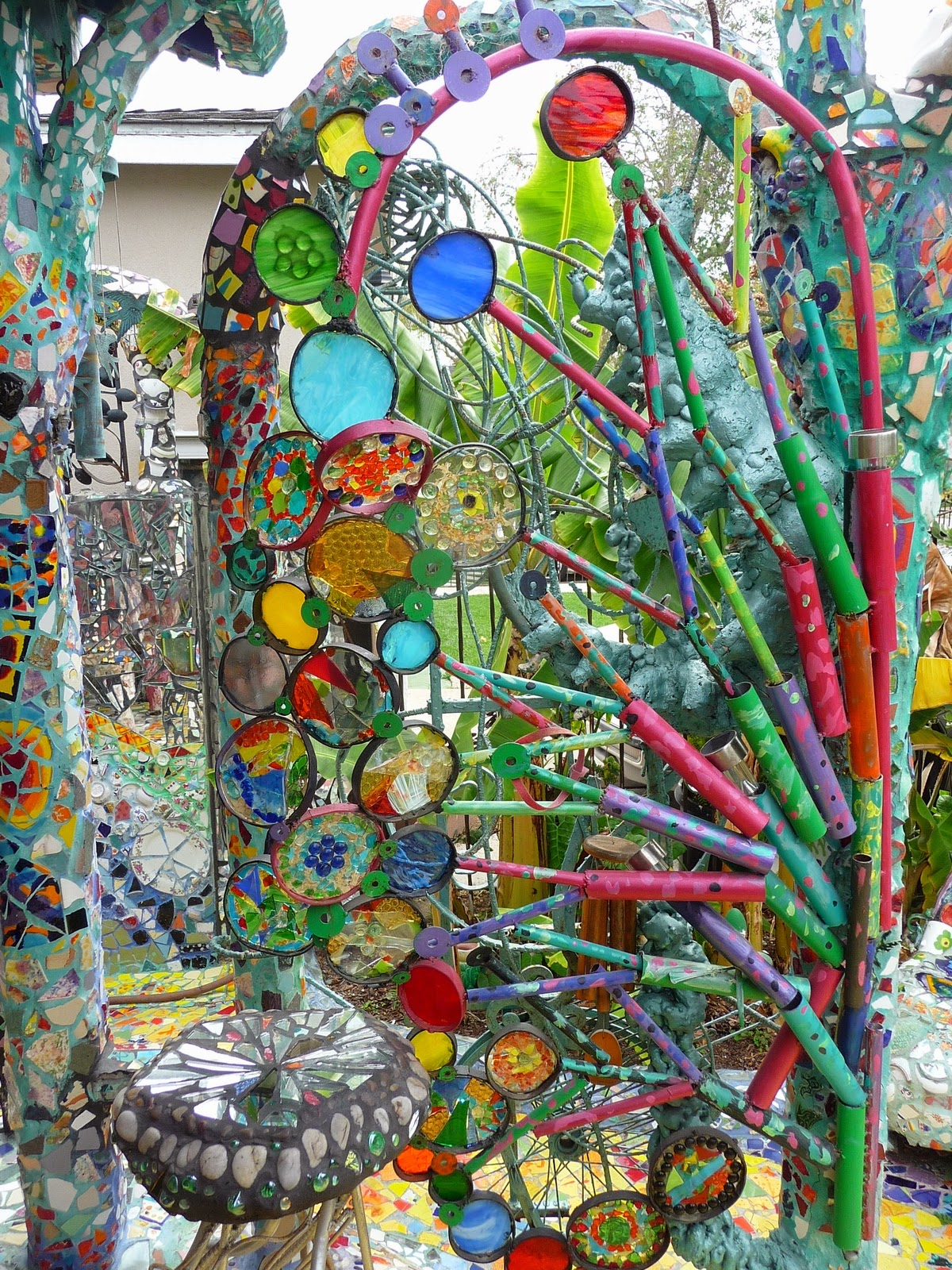 From The Summer S Garden Robin Tours The Mosaic House