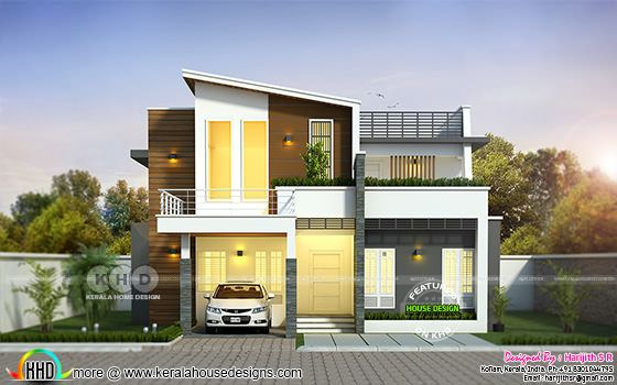 Simple contemporary home 2052 square feet