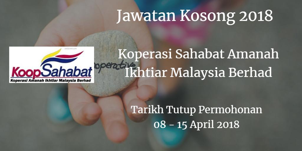 Jawatan Kosong Koperasi Sahabat Amanah Ikhtiar Malaysia Berhad 08- 15 April 2018