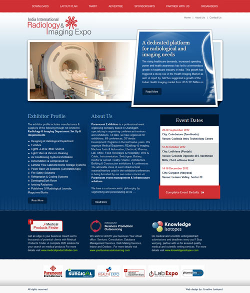 Radiology & Imaging Expo website Design