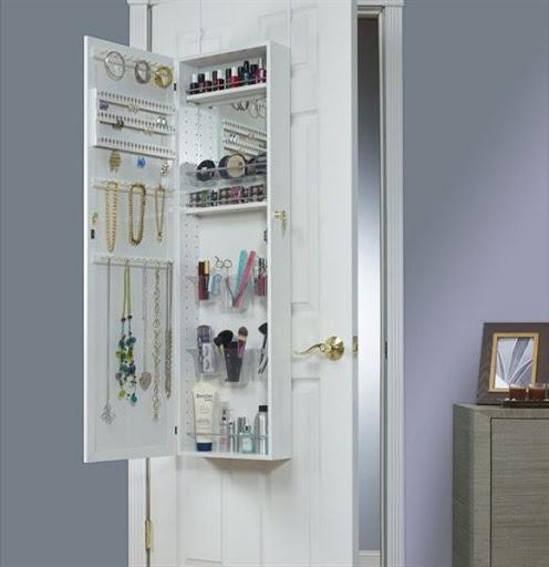 jewelry armoire over the door mirror cabinet