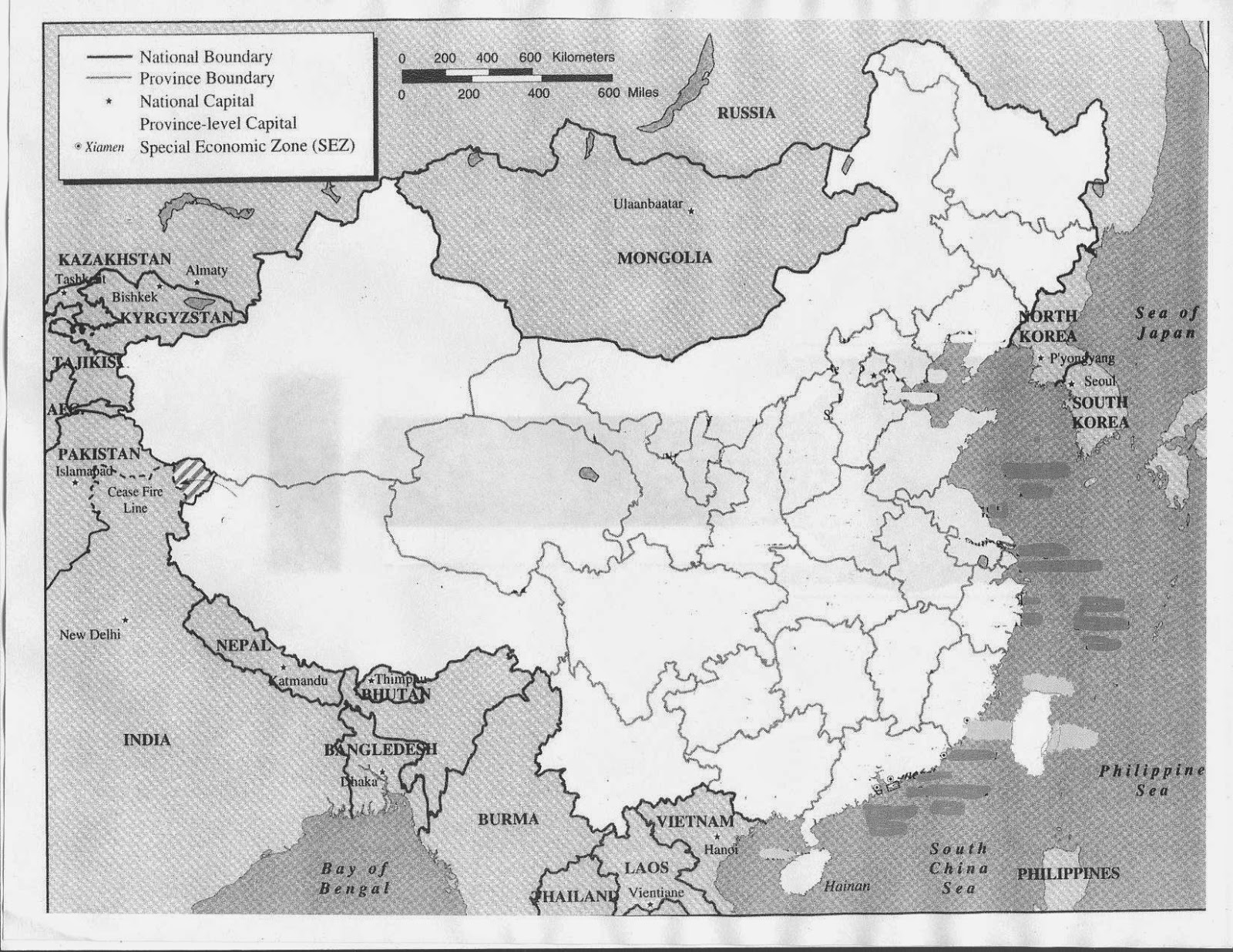China Map Printable