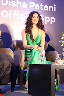 Disha Patani in Beautiful Green Gown at her App Launch 020.JPG