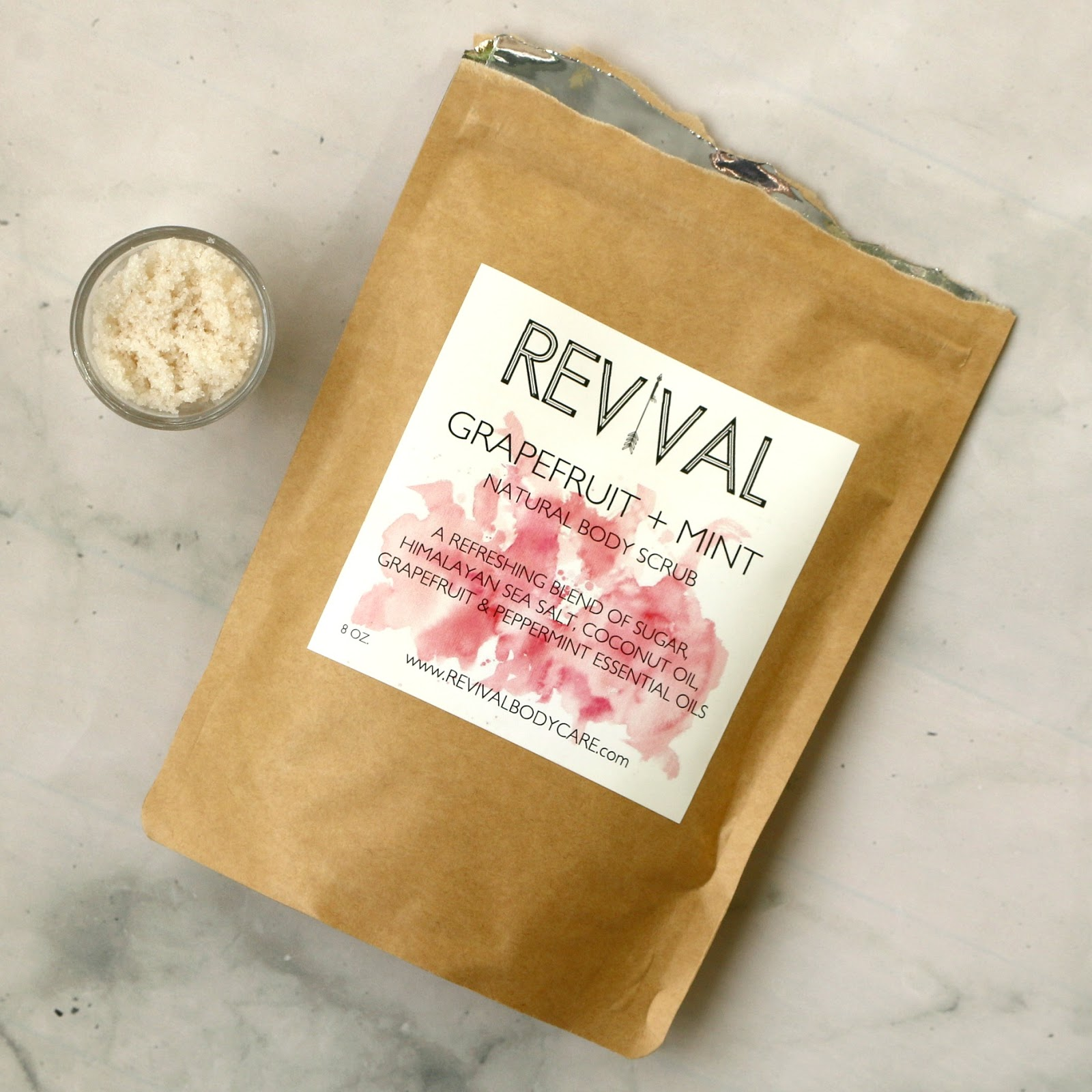 Revival Body Care Grapefruit Mint Body Scrub